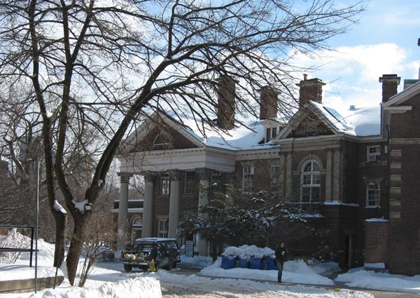 photograph of Flavelle House in winter