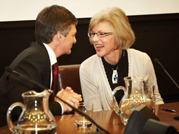 Attorney-General Chris Bentley and Chief Justice Beverly McLachlin