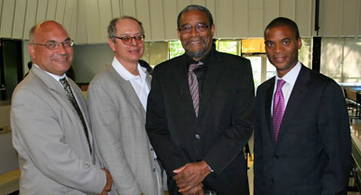 Cornell Wright (right) and other guests