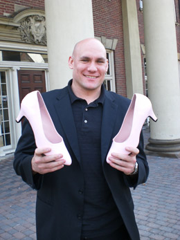 Prof. Ben Alarie with pink high-heels