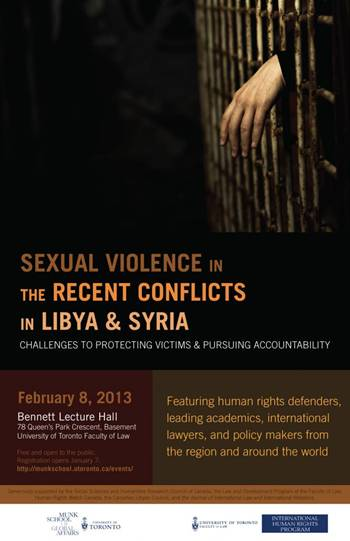 Sexual Violence in the Recent Conflicts in Libya & Syria
