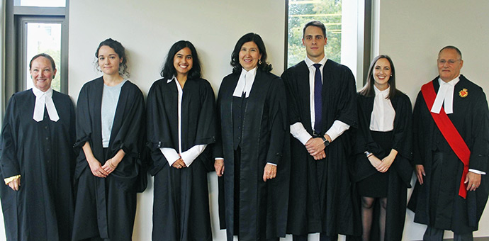 Grand Moot mooters and judges