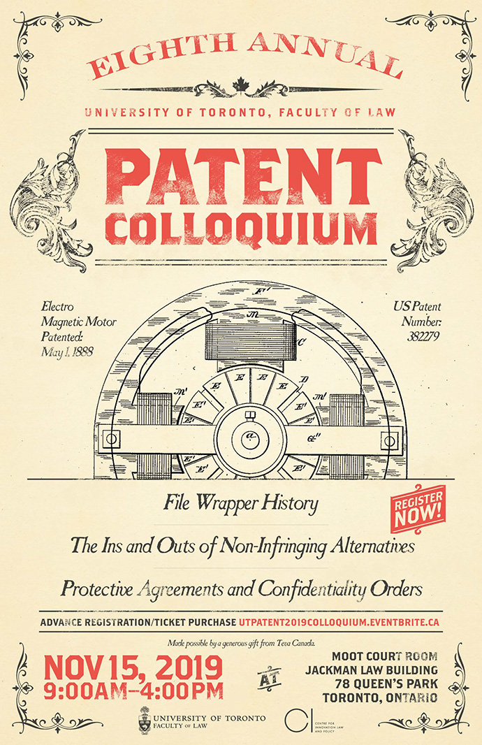 Eighth Annual University of Toronto Patent Colloquium poster