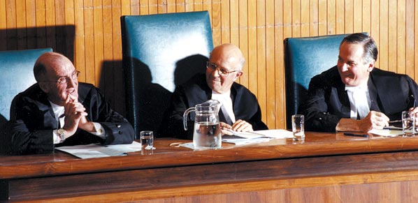 SCC justices preside over the 2002 Grand Moot