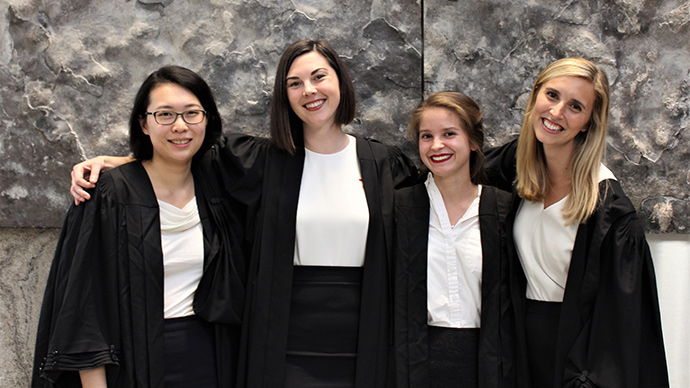 2017 Grand Mooters, L-R: Catherine Ma, Jessica Kras, Madeline Lisus, and Ashley Bowron. Photo by Aidan Campbell