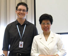 Steven Hoffman with WHO Director-General Margaret Chan