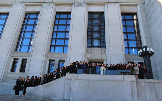 U of T Women in House group on the steps of the Supreme Court of Canada