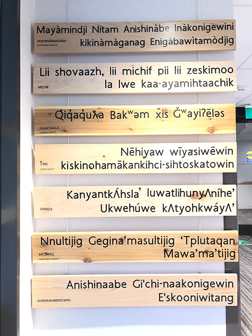 Indigenous Languages project with additional plaques