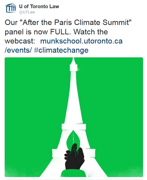 Paris Climate Summit conference webcast