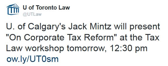 Jack Mintz presents at the Tax Law workshop