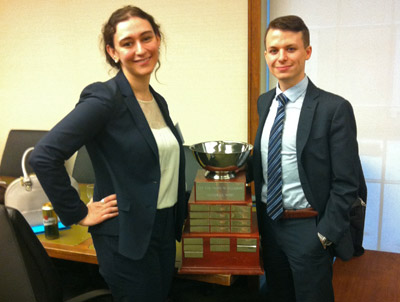 Callaghan Moot Winners, 2014: Madlyn Axelrod and Matthew Morley
