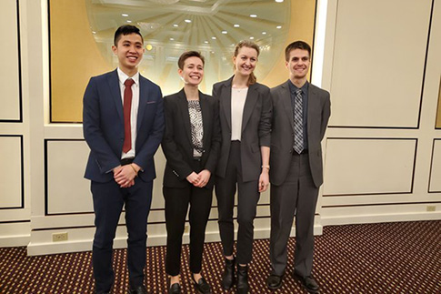 U of T law students Ryan Chan, Lauren Wildgoose, Hanna Yakymova and Rory Smith