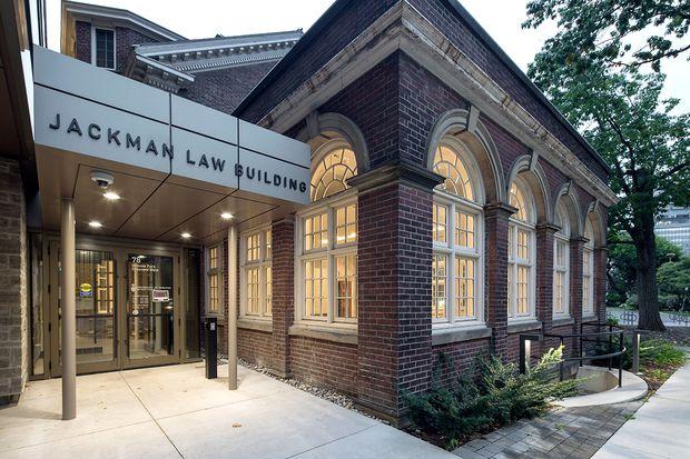 Jackman Law Building entrance