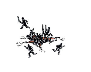 Illustration for op-ed about Iraq