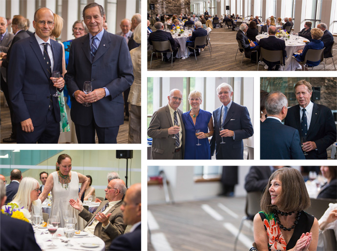 Photographs of guests at the dinner for the Hon. Hal Jackman