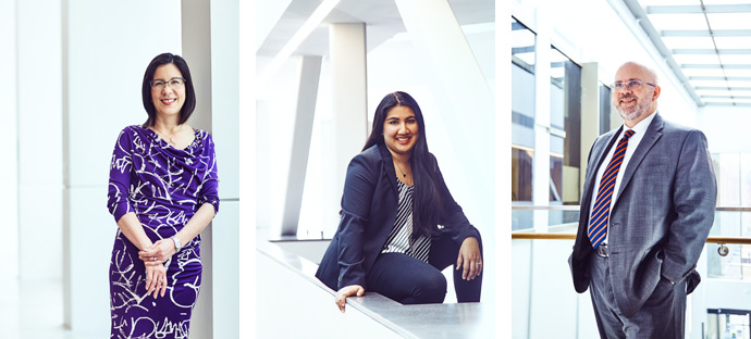 Building resilience:  Yukimi Henry (L), Micheline Singh, Orlando DaSilva