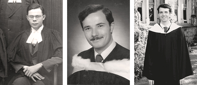 The Johnson graduates are John, 1935, Michael, 1978, and Sean, 2017
