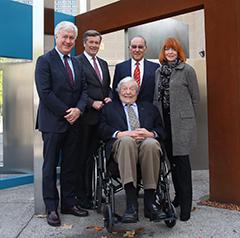 (L) Alumnus Paul Schabas, Mayor John Tory, Seymour Epstein, Justice Gloria Epstein, with the Hon. Roy McMurtry, centre.