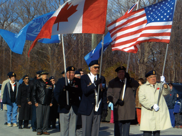 Rememberance Day Ceremony, Cape Croker Reserve, Ontario
