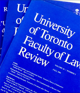 University of Toronto Faculty of Law Review
