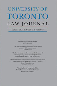 Cover of University of Toronto Law Journal