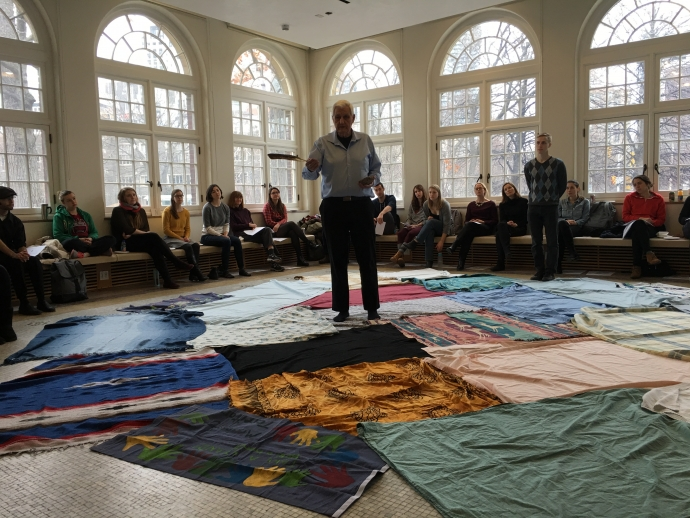 Blanket exercise in Rowell Room