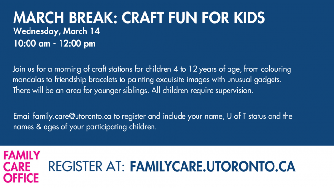 Family Care Office: March Break Fun - Craft Fun for Kids