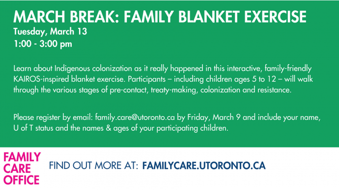 March Break Fun - Family Blanket Exercise
