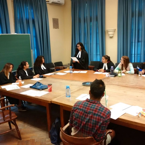 Aboriginal youth in mock trial