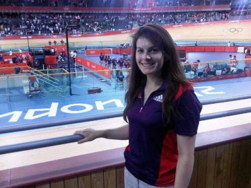 Catherine Dunmore volunteering at London Olympics