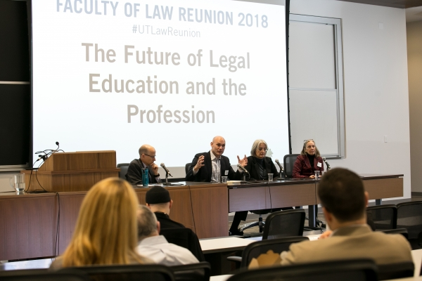 Saturday's Reunion lecture panel