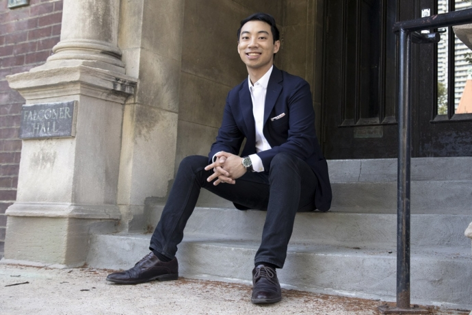 U of T master's student Kevin Vuong hopes to inspire a more sustainable and inclusive Toronto at an upcoming UN-backed event (photo by Romi Levine)