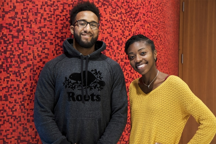 Josh Lokko and Chika Oriuwa are hosting their first Black Interprofessional Students Association (BIPSA) networking event