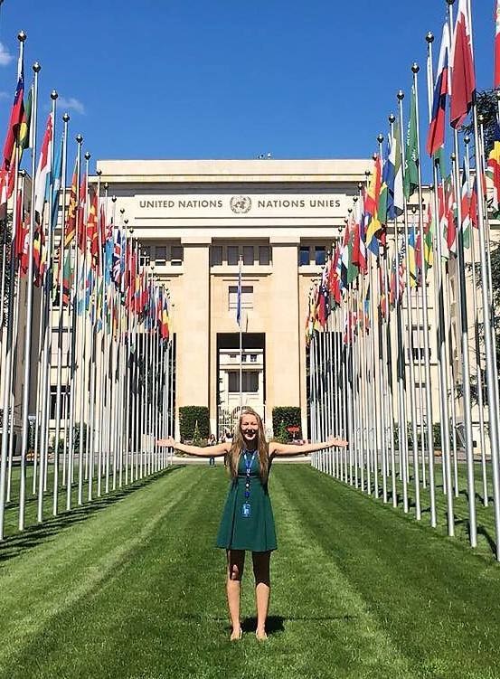 Basking in international diplomacy at the Palais des Nations.