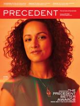 2019 Precedent Setter cover image of a woman's portrait