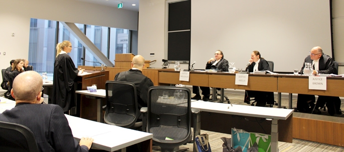 The Grand Moot in progress.