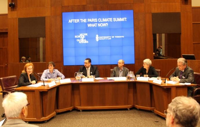 After Paris Climate Conference panel shot