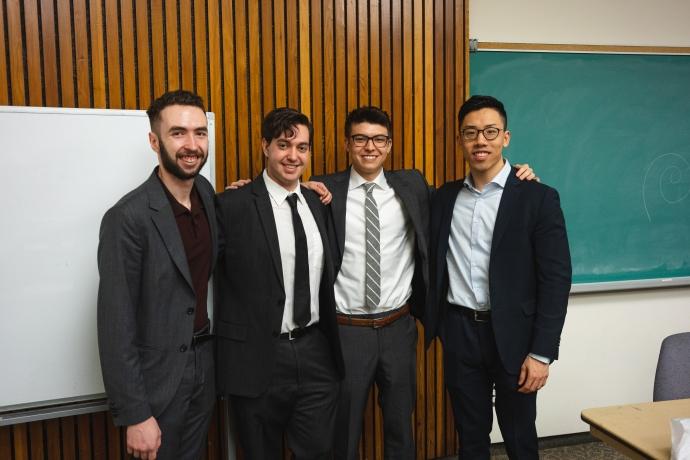 Cannabis Club founders, from left: Ben Barrett, Ben Persofsky, Zach Lechner-Sung, Ernest Tam