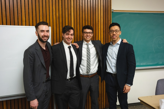 Cannabis Club founders, from left: Ben Barrett, Ben Persofsky, Zach Lechner-Sung, Ernest Tam