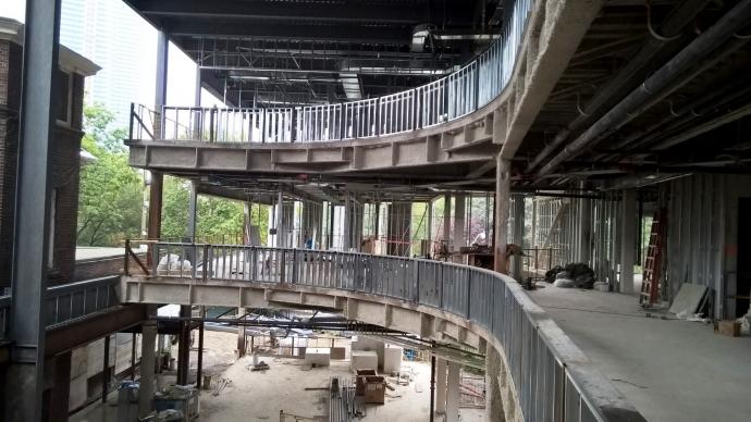 Construction of the law building atrium site