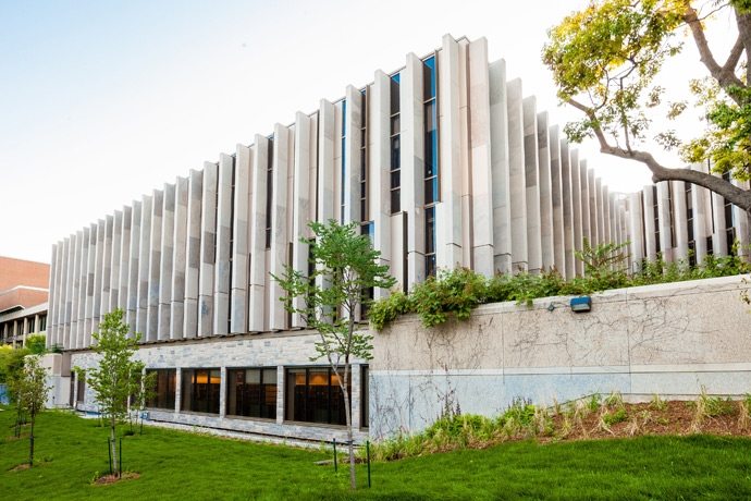 View of Bora Lasking Law Library from Philosopher's Walk