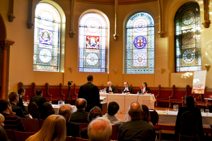 2015 Grand Moot wide shot in Vic Chapel
