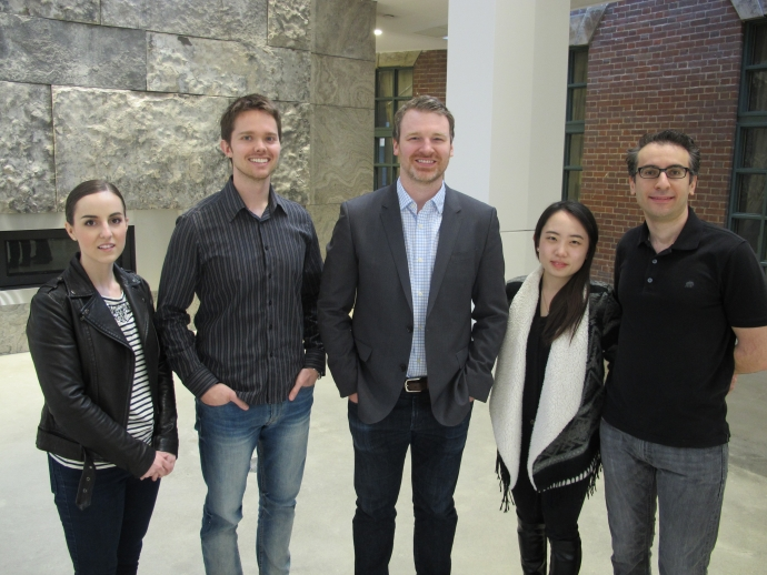 (left) Kerry Andrusiak, Damian Rolfe, adjunct professor and alumnus Max Morgan, Jenny Yunjeong Lee and Ahmed ElDessouki are some of the recent clinic participants.