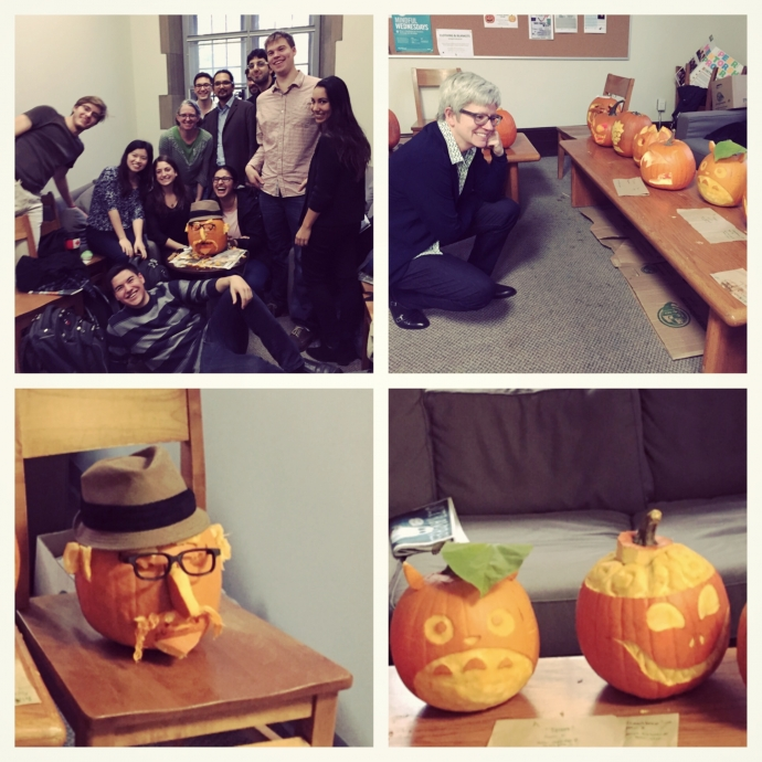 Pumpkin carvings by law students