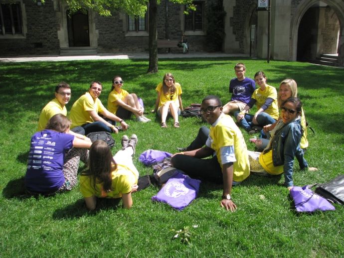 Group of law students during 2014 orientation week