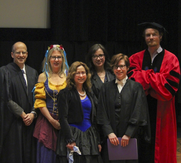 Cast of 2016 literary moot in costume