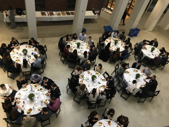 Welcome Day for new admits, lunch time in the Osler Atrium