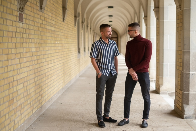 As U of T's Patrick and Curtis Sobchak learned more about their family history, being Indigenous increasingly became an integral part of their identity (photo by Geoff Vendeville)