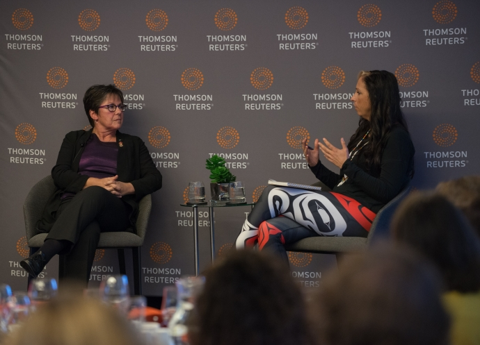 Senator Kim Pate in conversation with Mi'kmaq lawyer and advocate, Dr. Pam Palmater
