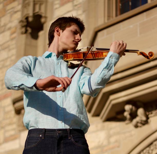 William Boan plays the violin